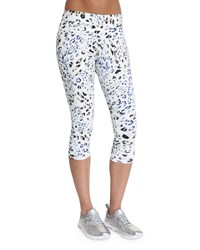 Varley Pico Cropped Sport Leggings Leopard Women's Size Small 4 6