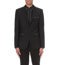 Givenchy Chain Detail Wool And Mohair Blend Jacket Black