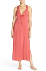 Midnight By Carole Hochman Women's Racerback Jersey Nightgown Terracotta