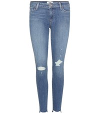 Paige Verdugo Ankle Distressed Skinny Jeans Blue