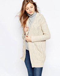 B.Young Cable Knit Cardigan Vanilla Sky Beige