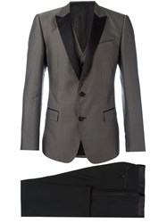 Dolce And Gabbana Embroidered Dinner Suit Black