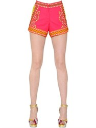 Manish Arora Embellished Crepe Shorts