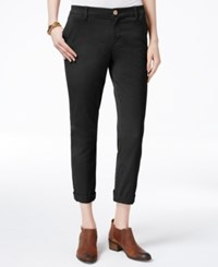 Tommy Hilfiger Cuffed Chino Straight Leg Pants Only At Macy's Deep Knit Black