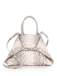 Akris Ai Small Convertible Python Tote Natural