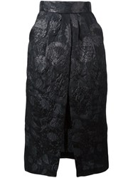 Christian Pellizzari Embroidered Floral Pencil Skirt Black