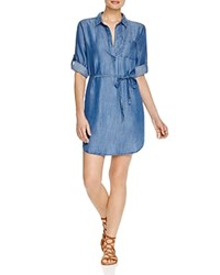 Prive Chambray Shirt Dress Medium Indigo