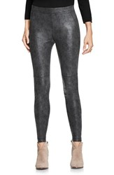 Vince Camuto Women's Two By Textured Shale Foil Ponte Leggings