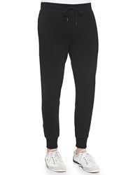 Theory Moris P Sweatpants Light Gray Black