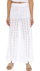 Free People Helena Eyelet Pants White