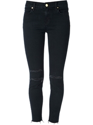 J Brand Ripped Skinny Trousers Blue