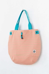Chums Round Sweat Tote Bag Peach