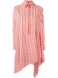 Marques Almeida Marques'almeida Checked Oversized T Shirt Red