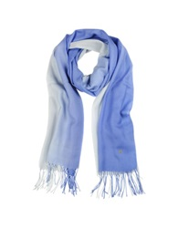 Mila Schon Gradient Blue Light Blue Wool And Cashmere Stole