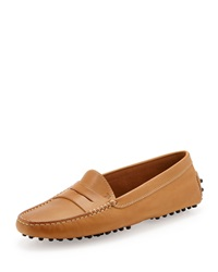 Tod's Leather Gommini Moccasin Brown