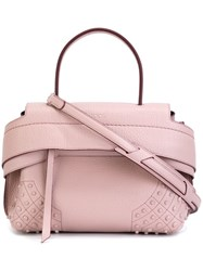 Tod's Medium 'Wave' Tote Pink And Purple