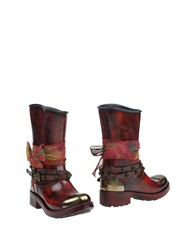 Barracuda Ankle Boots Maroon