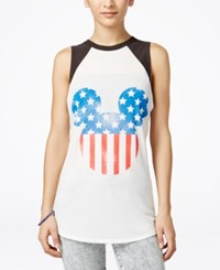 Mighty Fine Juniors' Disney Mickey Mouse Graphic Tank Top Linen