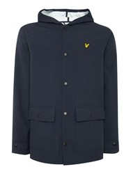 Lyle And Scott Hooded Raincoat Navy