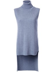 Studio Nicholson Ribbed Sleeveless Knitted Top Grey