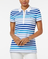 Tommy Hilfiger Sarah Striped Polo Top Surf The Web