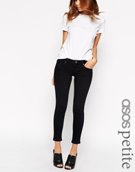 Asos Petite Whitby Low Rise Skinny Jeans In Sapphire Blue Wash Darkwashblue