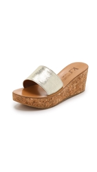 K. Jacques Kirielle Wedge Slides Rey Blonde