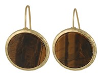 Lauren Ralph Lauren Summer Chic Stone Disk Drop Earrings Mother Of Pearl Gold Earring