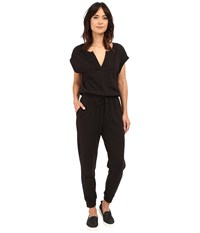 Lanston The Fleece Jumpsuit Black Women's Jumpsuit And Rompers One Piece