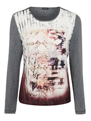 Gerry Weber Abstract Print Jersey Top Multi