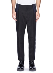 Lanvin Hopsack Side Stripe Technical Crepe Pants