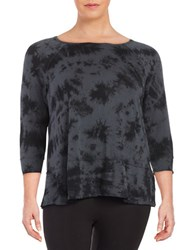 Calvin Klein Performance Plus Tie Dye Knit Tunic Charcoal