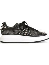Alexander Mcqueen Studded Extended Sole Sneakers Black