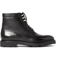 John Lobb Alder Leather Derby Boots Black