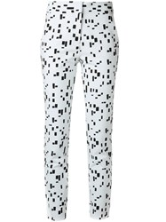 Andrea Marques Printed Slim Fit Trousers White
