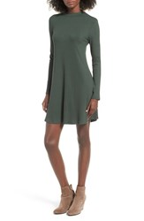One Clothing Women's Ribbed Swing Dress Green