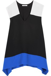 Bailey 44 To The Max Color Block Silk And Stretch Jersey Top Black