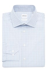 Armani Collezioni Men's Big And Tall Slim Fit Plaid Dress Shirt Blue Blue