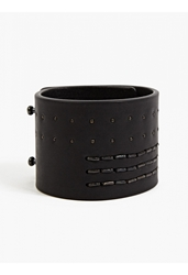 Rick Owens Men's Black Studded Leather Cuff