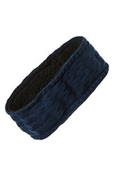 Echo Knit Headband Navy