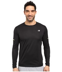 New Balance Nb Ice Long Sleeve Top Black Men's Long Sleeve Pullover