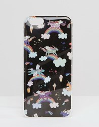 Signature Iphone 6 Case In Unicorn Print Navy