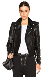 Unravel Lace Up Biker Jacket In Black