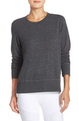 Alo Yoga Women's Alo 'Glimpse' Long Sleeve Top Charcoal Heather