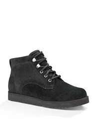 Ugg Bethany Suede And Sheepskin Boots Black