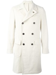 Gabriele Pasini Notched Lapel Double Breasted Coat Nude Neutrals