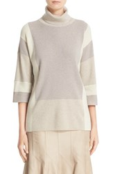 Lafayette 148 New York Women's Colorblock Turtleneck Sweater