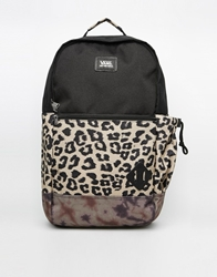 Vans Doren Backpack In Animal Print Black