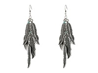 Mandf Western Feather Dangle Earrings Silver Earring