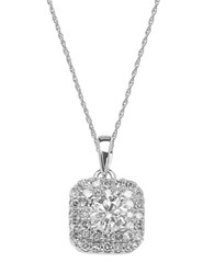 Lord And Taylor 14 Kt. White Gold Diamond Pendant Necklace